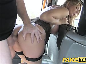 faux taxi super-sexy Welsh cougar with super-fucking-hot body