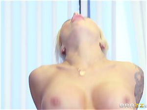 rigorous big-titted chief Nina Elle exploits its workers during a rendezvous