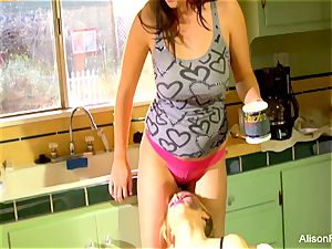 Alison Tyler and Katie Summers tear up in the kitchen