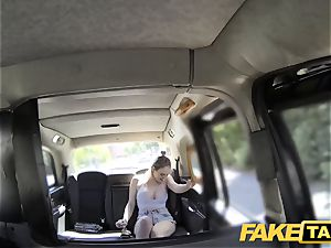 fake taxi Cabby attempts luck on super-fucking-hot towheaded with large jugs