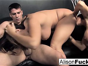 3-way xxx spirited intercourse with Alison