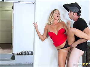 super hot wifey Samantha Saint nails her spouses bro