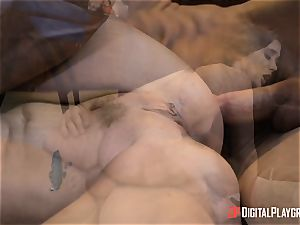 naughty dark-haired Gia Paige takes it deep up her muff